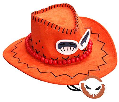 pidak Cappello del Pirata Laccio Regolabile con Collana e Spille appliceta Cosplay Shop -