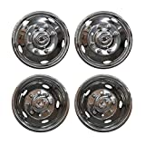 Z-Room ZR-A80008-C19F8 4pcs 19.5' Dually Steel Wheel Simulators 8 Lug 5 Hand Hole Skins Liners Covers
