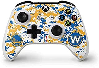Skinit Decal Gaming Skin for Xbox One S Controller - Officially Licensed NBA Golden State Warriors Digi Camo Design