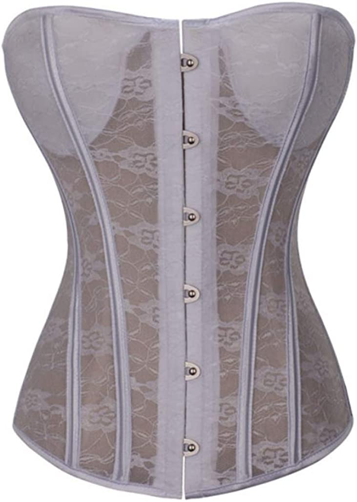 Women Bridal Bustiers Lace Padded Corset Body Shapewear Floral Outfit for Wedding Dress