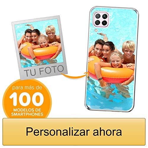Funda Personalizada para Huawei P40 Lite con tu Foto, Imagen o Escritura - Estuche Suave de Gel TPU Transparente - Impresión