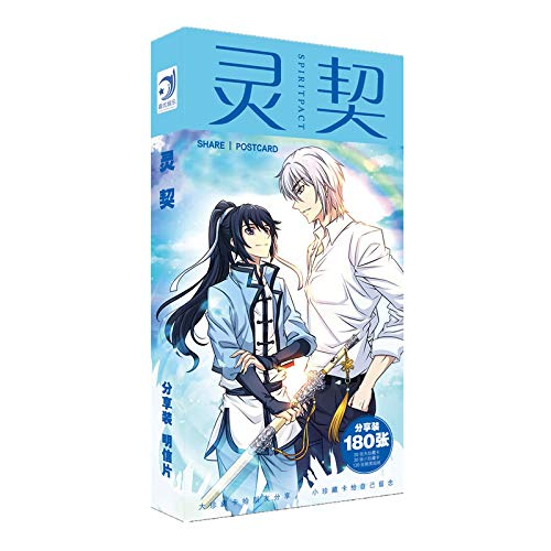 180Pcs/Set New Anime Spiritpact Paper Postcard/Greeting Card/Message Card/Birthday Letter Envelope Gift Card