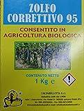 CALTABELLOTTA ZOLFO CORRETTIVO 95 GIALLO KG. 1 POLVERE SECCA PER AGRICOLTURA VERDURA