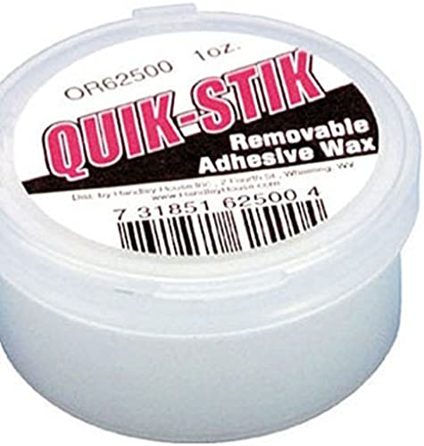 Dollhouse QUICK STICK HOLDING WAX by Superior Dollhouse Miniatures