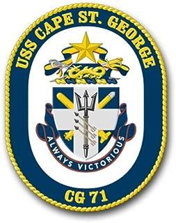 Magnet US Navy USS Cape St.George CG-71 Military Veteran Served Vinyl Magnet Car Fridge Locker Metal Decal 3.8