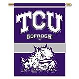 NCAA TCU gehörnten Frösche beidseitigen 28-by-40Zoll House Banner mit Pole Sleeve