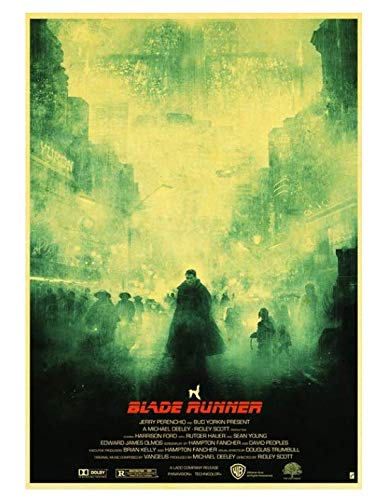 H/P Movie Blade Runner 2049 Retro Poster Wall Stickers Living Room Home Decoration Painting Frameless 50X70Cm W2259