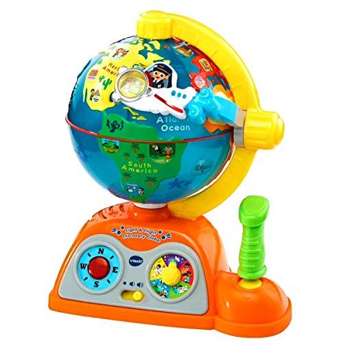 VTech - Globo multiaventuras, infantil interactivo que enseña geografía, continentes,