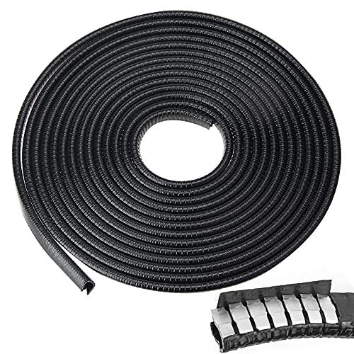 Protector de Puerta de Coche Negro,5M Protector de Bordes Tiras de Caucho,U Forma Protector de Borde de Automóvil,Borde de Coche,Caucho Sello Protección,para La Mayoría de Coches