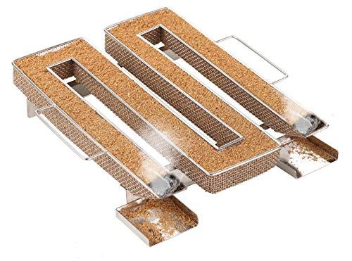 LIHAO Générateur de Fumée Froide Fumoir Poisson Viande en Acier Inoxydable Pour Grille BBQ avec Brosse de Nettoyage, Carré