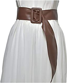 Women's belt wild velvet bag buckle coat decorative streamers (Color : Brown, Size : 100-135CM)