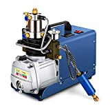 HOOMYA 30WPA 4500PSI 80 L/Min Pompa Elettrica del Compressore d'aria ad alta Pressione, per Bottiglia di Inflazione Gonfiatore PCP Fucile ad aria Compressa