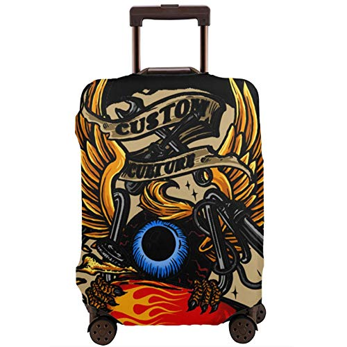 Fundas para Maletas Flying-Eyeball-Retro Protector de Maleta de Viaje Funda de Maleta con Cremallera Cubierta de impresión de Moda Lavable por valija Protector de Maleta de Viaje