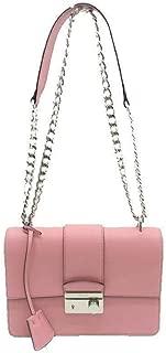 Women's Petal Pink Saffiano Leather Cross Body Handbag 1BD034