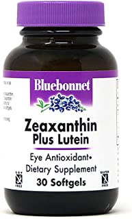 Bluebonnet Nutrition Zeaxanthin Plus Lutein Softgel, Lutein & Zeaxanthin, Eye Health & Blue Light Exposure, Lutein from Ma...