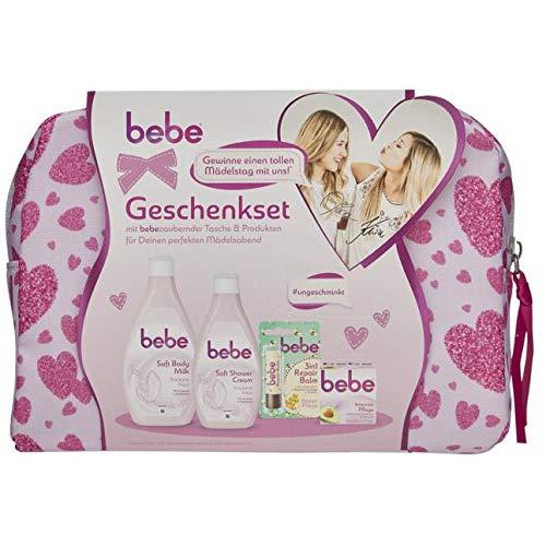 bebe® Geschenkset 1 Set bestehend aus bebe Intensiv Pflege 50 ml, bebe Soft Shower Cream 250 ml, bebe 3in1 Repair Balm 4,9g & bebe Soft Body Milk 400 ml
