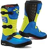 TCX Comp Kinder Motocross Stiefel 36 Blau/Gelb
