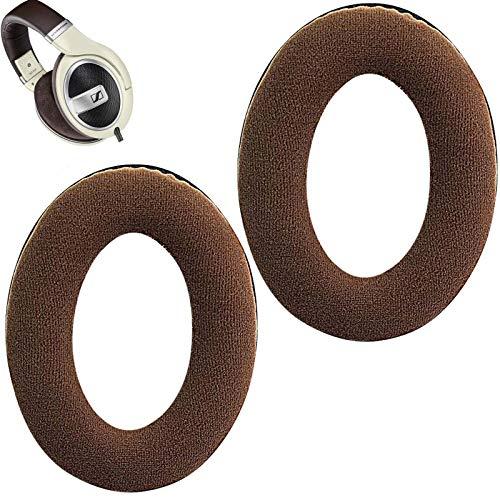 HD598 - Almohadillas de repuesto para auriculares HD599 (compatibles con auriculares Sennheiser HD 599, parte trasera abierta), color marrón