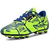 NEUSOP Chaussures de Football Enfant Garçon Fille FG/AG Chaussures de Football pour Enfants Chaussures d'Entraînement de Football Professionnel Adolescents Unisex Chaussure de Foot 31-43,Vert,42EU