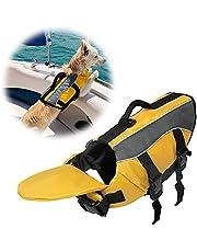SILD Chaleco salvavidas color Pet tamaño ajustable perro Salvavidas Seguridad Chaleco reflectante para mascotas Salvavidas chaleco de vida de ahorro de perro abrigo para natación surfear, caza(M)