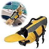 SILD Chaleco salvavidas color Pet tamaño ajustable perro Salvavidas Seguridad Chaleco reflectante para mascotas Salvavidas chaleco de vida de ahorro de perro abrigo para natación surfear, caza(L)