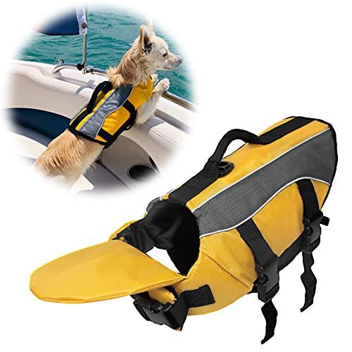 SILD Chaleco Salvavidas Color Pet tamaño Ajustable Perro Salvavidas Seguridad Chaleco Reflectante para Mascotas Salvavidas Chaleco de Vida de Ahorro de Perro Abrigo para natación Surfear, Caza(XL)
