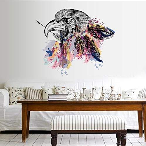 IOIUG Creative Eagle Head Badezimmer Schlafzimmer Wohnzimmer Abnehmbare Selbstklebende Schrankwand Aufkleber Aufkleber Dekor Poster Wandbild