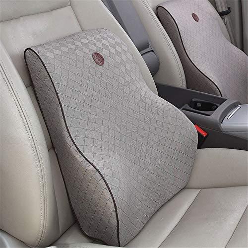 Almohada lumbar Cojín del asiento Comfort Látex Ortopédico Natural Silla Almohada Respaldo Cojín del asiento Sentada del coche Viajes Cojín del asiento de conducción Cojines de respaldo y asiento