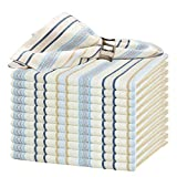GLAMBURG Cotton Cloth Napkin Set of 12,Ring Spun Cotton Dinner Napkin 18x18 with Mitered C...