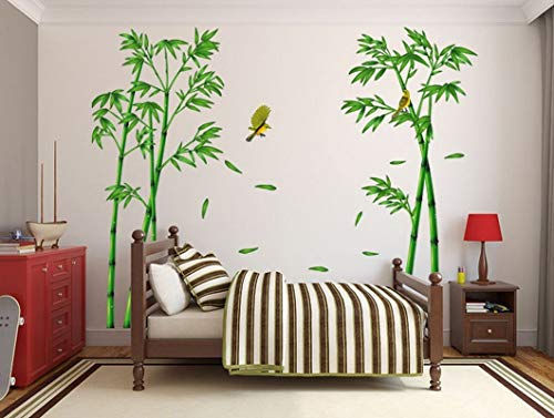 Muurstickers Muurtattoos Bamboe woonkamer bank TV achtergrond warme decoratie studie muur sticker
