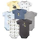 Hudson Baby Unisex Cotton Bodysuits, Safari, 18-24 Months