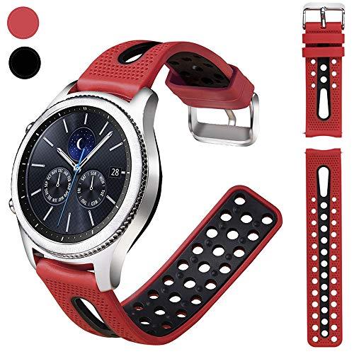 Nigaee Silikon Uhrenarmband 20mm 22mm mit starkem Metall Verschluss strapazierfähig Armbanduhr zubehör Bandersatz Ersatzband Material hautfreundlich weich Ersatzarmband silikon Uhrenarmbänder Unisex