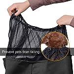 longsheng Dog Cat Sling Carrier, Adjustable Padded Shoulder Strap, with Zipper Pocket for Outdoor Travel 8