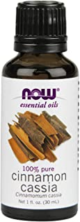 Now Essential Oils, Cinnamon Cassia Oil, Warming Aromatherapy Scent, Steam Distilled, 100% Pure, Vegan, 1-Ounce