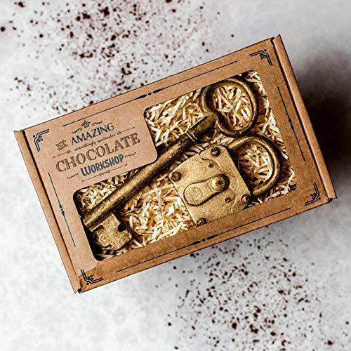 Erstaunliches Schokoladen Schlüssel & Vorhängeschloss Geschenkset