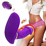 Wireless Waterproof Hands-Free Massager with 10 Vibration Modes, Wireless Remote Control Wearable Vibration Toy with USB Charging