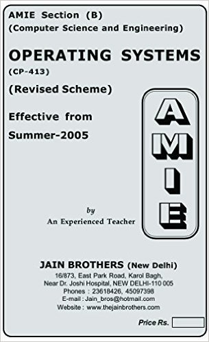 AMIE - Section (B) Operating Systems (CP-413) Computer Science and Engineering Solved and Unsolved Paper