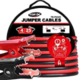 TOPDC Jumper Cables 4 Gauge 25 Feet Heavy Duty Booster Cables with Carry Bag...