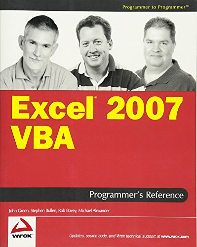 Excel 2007 VBA Programmers Reference (Programmer to Programmer)
