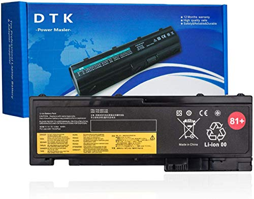 DTK 81+ Replacement Laptop Battery for Lenovo ThinkPad T430S T420i T420s 0A36287 42T4844 42T4845 57Y4186 42T4803 42T4802 45N1038 45N1039 45N1064 45N1065 45N1143 Notebook 11.1V 4400mAh