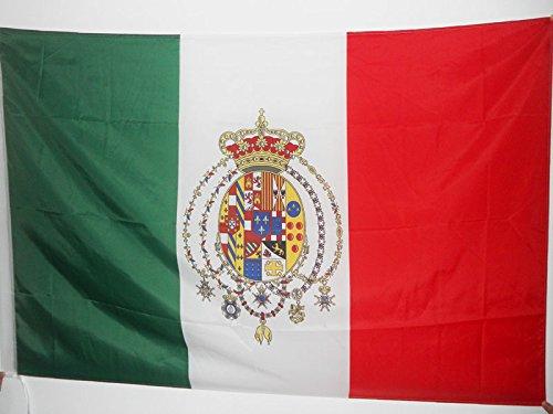 AZ FLAG Flagge KÖNIGREICH BEIDER SIZILIEN 1860-1861 90x60cm - ITALIENISCHE Fahne 60 x 90 cm Scheide für Mast - flaggen Top Qualität