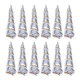 Lurrose Einhorn-Hörner für DIY-Einhorn-Stirnband, Basteln, Geburtstag, Party, Gastgeschenke (Silber)