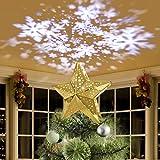 KPCB Puntale per Albero di Natale, Stella per Punte Albero di Natale Decorazioni per Punte Albero di Natale Topper per Albero di Natale