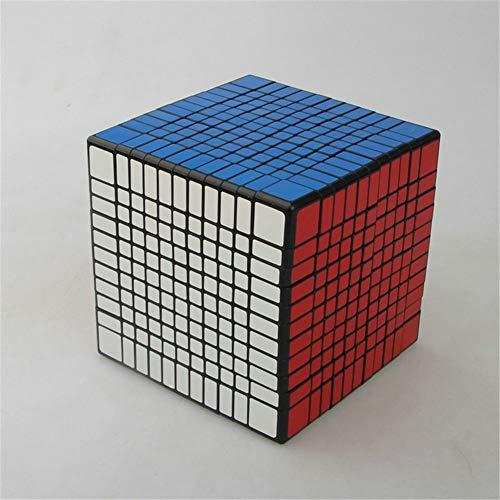Ysss 11 ° Cubo, Colorido Rompecabezas Cuadrado, Juguetes educativos Especiales para niños de Alta Gama,Negro