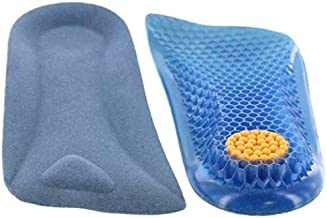 Height Increase Elevator Half Insole for Men 1/2 inch Taller Heel Lift Insert - Silicon Honeycomb Shaped Gel