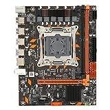 Hopcd X99 M-ATX-Computer-Motherboard, Zweikanal-DDR4 2666/2400/2133 MHz/RTL8111F Gigabit-Netzwerkkarte/LGA 2011-3/6-Kanal-Audio-Chip, 4xSATA3.0, 4xUSB3.0, 1xNVME M.2