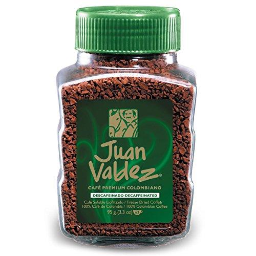 Juan Valdez, normal gefriergetrockneter entkofeinierter Instant-Kaffee, 95g Jar.