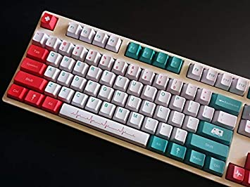 White//Green//Red MX Switches Suitable for Mechanical Keyboards ,108 87//104//108 Key Caps OEM Height SSSLG PBT Keycap