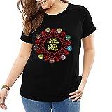 hengtaichang Roi Gésier et Assistant lézard T-Shirt pour Femmes en Coton T-Shirt décontracté Street Wear T-Shirt Grande Taille