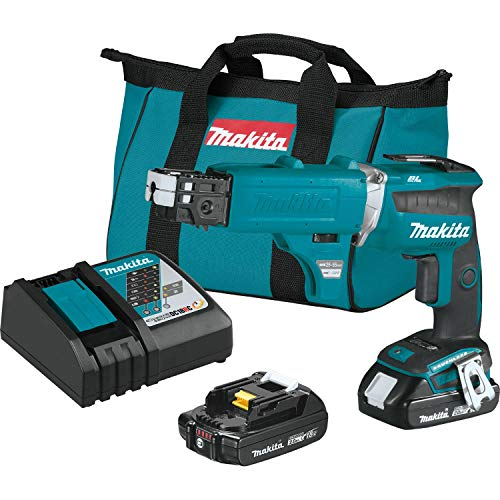 Makita XSF03RX2 18V LXT Lithium-Ion Compact Brushless Cordless 4, 000 Rpm Drywall Screwdriver Kit, with Autofeed Magazine (2.0Ah)